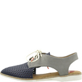 Derby Slingback Navy Grey Laceups