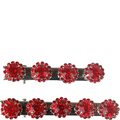 Tinsley Red Hair Clip Set